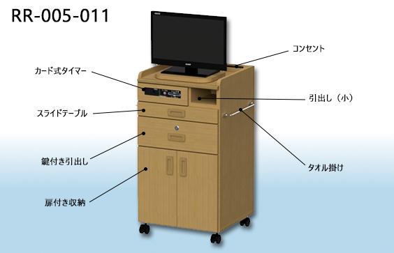 ロータイプ床頭台3D画像【RR-005-011】