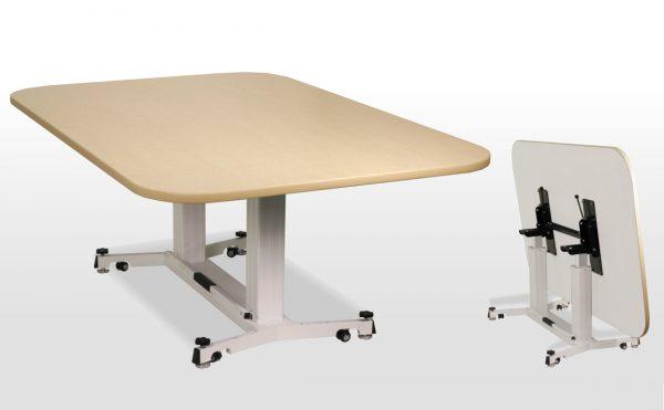 折畳昇降テーブル ナチュラル