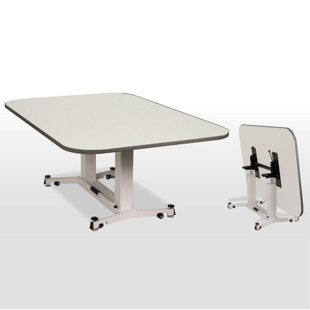 折畳昇降テーブル アイボリー